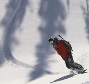Sled Snowboarding