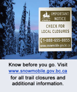 caribou closures sign